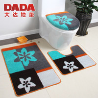 bath and toilets - bath mats and toilet set Modern bath rug for bathroom