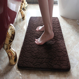 Wholesale cm slow rebound memory foam bath mat waterproof non slip bathroom bath mat stone