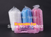 Wholesale Disposable Elasticated Shower hair Cap colorful for home hotel beauty salon waterproof bathing caps lace Eco shower