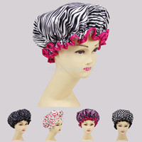 Wholesale High quality beautiful printed satin fabric shower caps many designs all factory direct sales one size fit all