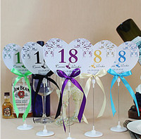 wedding place card holders - Personalized Heart Shaped Table Number Card With Holders Place Card Garden Supplies Set of
