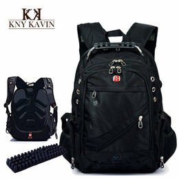 Wholesale New fashion brand design men s travel bag man backpack polyester bag shoulder bags computer packsack swissgear