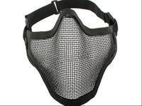 metal face mask - Tactical TMC Metal Steel Wire Half Face Mesh Airsoft Mask Bk amp DE
