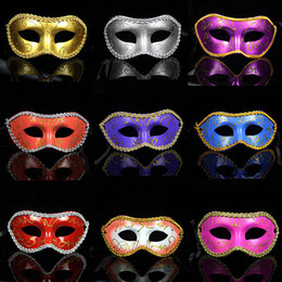 Wholesale-masquerade costume party new year christmas halloween dance women sexy mix face mask venetian masks free shipping promotion