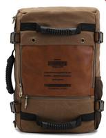 venda por atacado military canvas bag-Atacado-Free transporte multifuncional KAUKKO exército de lona bolsa de ombro estilo de viagem mochilas táticas militares dos homens 3 maneiras