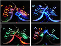 Wholesale LED light up shoelaces shoe laces disco flash Optical Fiber flashing Funny led shoelace