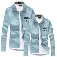 Wholesale man spring new arrival long sleeve denim shirt mens fashion high quality casual shirt