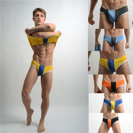 Wholesale Men s sports style underwear shino men s sexy briefs strong mesh cool wear six colors