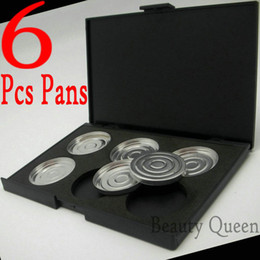 6Pcs 35mm pans Empty eyeshadow palette Makeup Case with pans Size * NO Magnetic * High Quality