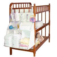 baby bedding accessories - CM Baby Bed Hanging Bag Diapers Organizer Bedding Set Newborn Crib Accessories Nylon Waterproof Storage High Quality Y021