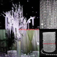 Wholesale Meters Ft Diamond Crystal Acrylic Beads Roll Hanging Garland Strand Wedding Birthday Christmas Decor DIY Curtain