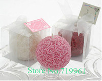 ball candles sale - rose ball shape candle sales as Christmas birthday wedding Party Bithday New year Valentine s days gifts