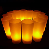resale - For Resale Big Discount LED Rechargeable Flameless Tea Light Candles With Rechargeable Pillar Candles Yellow