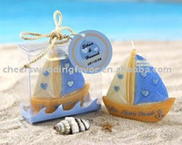 beach wedding favor boxes - wedding favor Love Boat Beach Candle in Gift Box