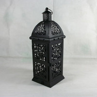 antique iron candle - Metal decoration gift candle holder house shop decoration Iron lantern vintage antique black