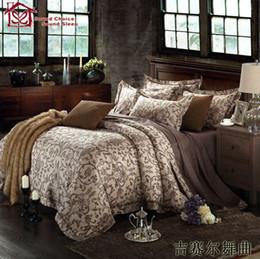 Wholesale-100% Egyptian cotton silver bedding set king size european bedding sets boho edredon bed sheet set luxury boys bedding