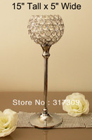 glass decor - quot Tall x quot Wide Glass Crystal Candle Holders Wedding Centerpiece amp Home Decor