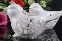 aromatherapy christmas light - Ceramic Aromatherapy Candle Holder Ceramic Love Birds Candle Holder wedding candle holder