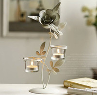 crystal candelabra - diamond candleholder crystal candlestick candelabrum candler iron Candle Holders