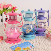 aladdin color - Color Aladdin TDP European new exotic ornaments Wishing Lamp gift Marine Lamp Jelly Candles Candlestick Candle Holders HomeDecor