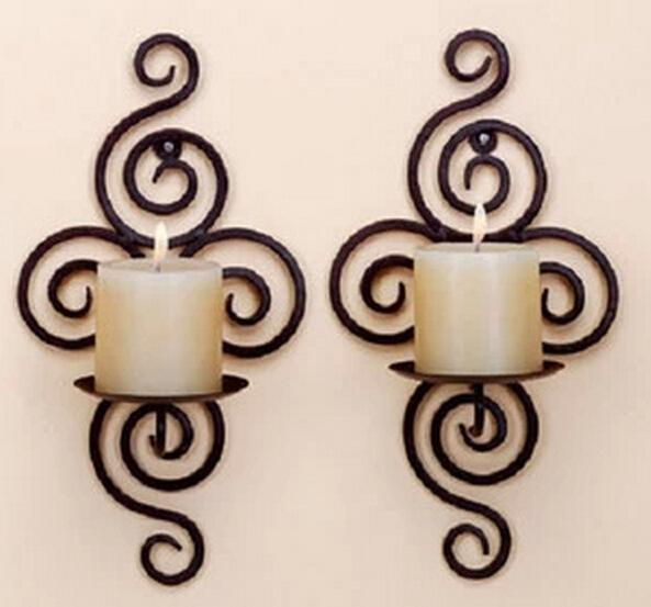 Wholesale 1pcs Home Decor Candle Holder Wall Hanging Decoration Candle Holders Holiday Decoration C201