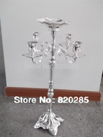 Metal best christmas candle - New arrival selling best cm arms candelabra with flower bowl in the middle center weddings or party use candle holder