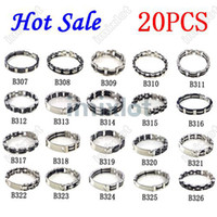 Wholesale Rubber Stainless Steel Bracelets Charm Lady Men Bracelets Mixed Kinds Cuff Bangle