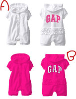name brand baby clothes - Baby rompers baby girls jumper summer rompers Brand name white rose High quality cute kid s clothing