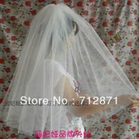 bargin prices - High Quality Empire Bargin price In Stock organza bridal Wedding Veil short Bridal Accessory sets