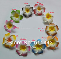 artificial flower wedding hair - cm Artificial EVA Foam Frangipani Plumeria Flower Heads For Hair Accessories