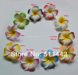 Wholesale cm Artificial EVA Foam Frangipani Plumeria Flower Heads For Hair Accessories