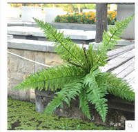 artificial ferns - Green plant plastic artificial flower Large leaf grass Persia leaf fern home furnishings deroration wedding decoration MA1657