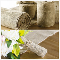 art of gift wrapping - inch Width of M New year decoration Natural Jute Burlap Ribbon for country wedding Floristry wreath Arts Craft Gift Wrap