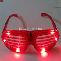 Wholesale New arrival blind luminous glasses Blinds led glasses leds Emitting fluorescent glasses for Halloween Christmas party