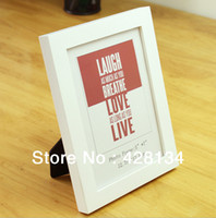 Cheap Wholesale-Simple Wood Ikea Photo Frame, Art Picture Frame, home decoration, 3.5x5'', White. Many Sizes and Colors available, up to