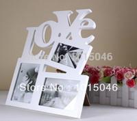 Venta al por mayor marco de cartón Baratos-el envío libre al por mayor-libre de cartón blanco marco de imagen 4x6 Ácido