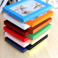 Wholesale Inch Colorful Wooden Photo Frame for Picture hanging Wall Frames DIY Art Decor Home Decoration