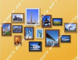 Wholesale-free shipping Picture frame photo frame wood wooden 13pcs