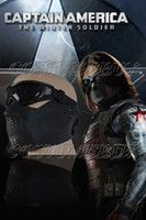 barnes glass - Captain America The Winter Soldier Bucky Barnes Mask With Glasses Cosplay
