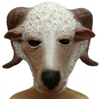 animal mascara - Halloween Latex Sheep Mask headgear Gifts Party Horse Masks Adults Full Face Animal Mascara Vestido De Festa