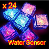 Wholesale 24 LED Color Change Reuse Flash Light Ice Crystal Cube