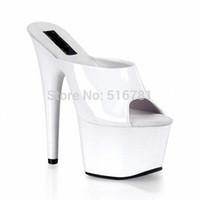 stripper shoes - CM Black Ankle Strap High Heels Sexy Women s Inch Stripper Dancer High Heels Shoes Fashion Stripper Shoes