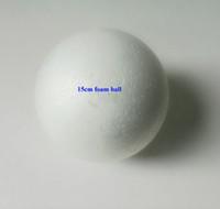 venda por atacado bolas de isopor-Atacado-Free shiping atacado 15 centímetros bola de espuma naturais brancas de isopor redondas bolas Craft bola DIY artesanal bola pintada (8pcs / lot)