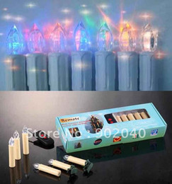 Wholesale Free Express days set colors auto changes remote control Christmas tree LED candle Christmas Decorative lights
