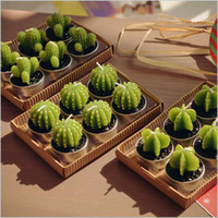 Wholesale Rare New Mini Cactus Candles Plant Decor Home Table Garden kawaii home Decoration