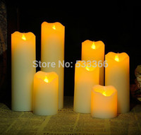 Wholesale Electronic LED Candles Light Flameless Wedding Party Flickering Romantic Fashion Size5cmx22cm with tracking number
