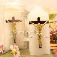 religious candles - New Arrival White Cross Christmas Gifts Fashion Candle Jesus God Religious Activities Cerebrate Dinner Wedding
