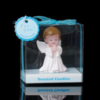 baby shower favors boys - Baby Shower Votive Candles Favors Angel White Baby Boy cm x7 cm new