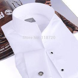 2017 boutons de manchette de smoking Gros-Men Fashion Tuxedo shirt, français boutons de manchette banquet, chemise à manches longues position col classique 100% coton de haute qualité Gurantee abordable boutons de manchette de smoking