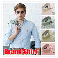 Wholesale new Spring men dress shirt Oxford color designer men s casual shirt camisas masculinas S XXL